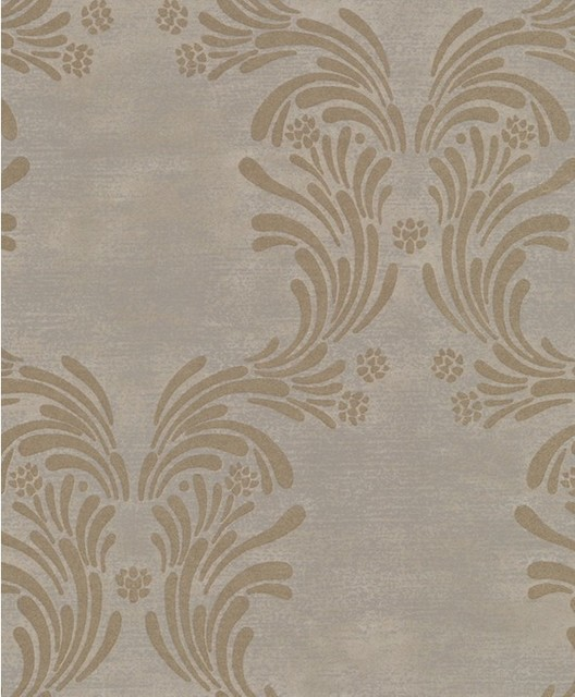 Caesar - Damask Wallpaper - Traditional - Wallpaper - by Wallpaper