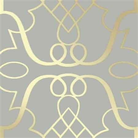 Grey and Gold Parklane Wallpaper