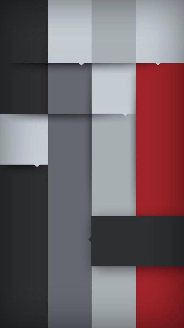 Abstract Grey Red iPhone 5 Wallpaper (640x1136)