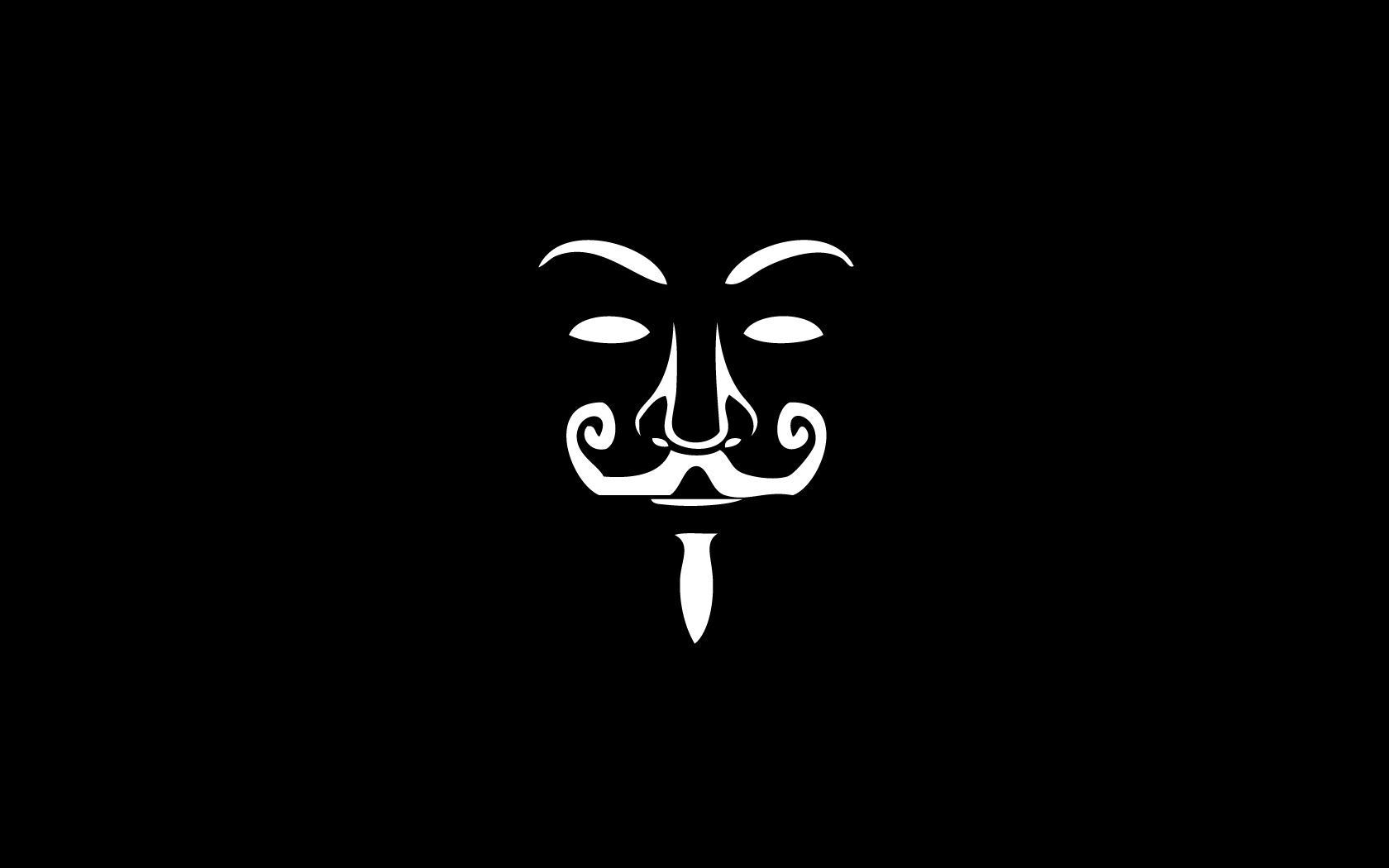 Black Anonymous Mask Wallpaper Opera Wallpapers