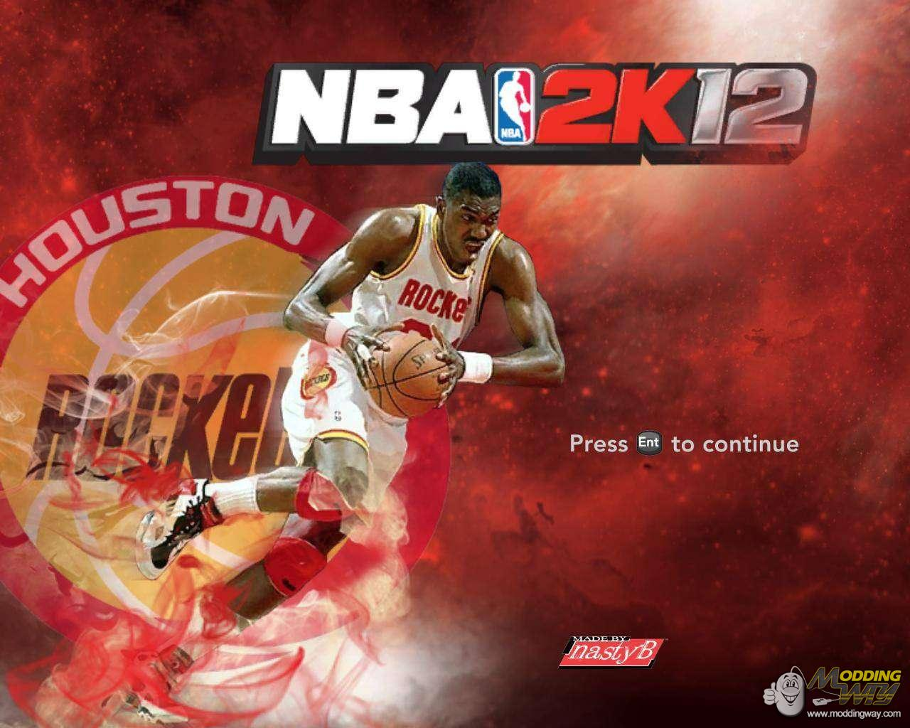 Hakeem Olajuwon Title Screen - NBA 2K12