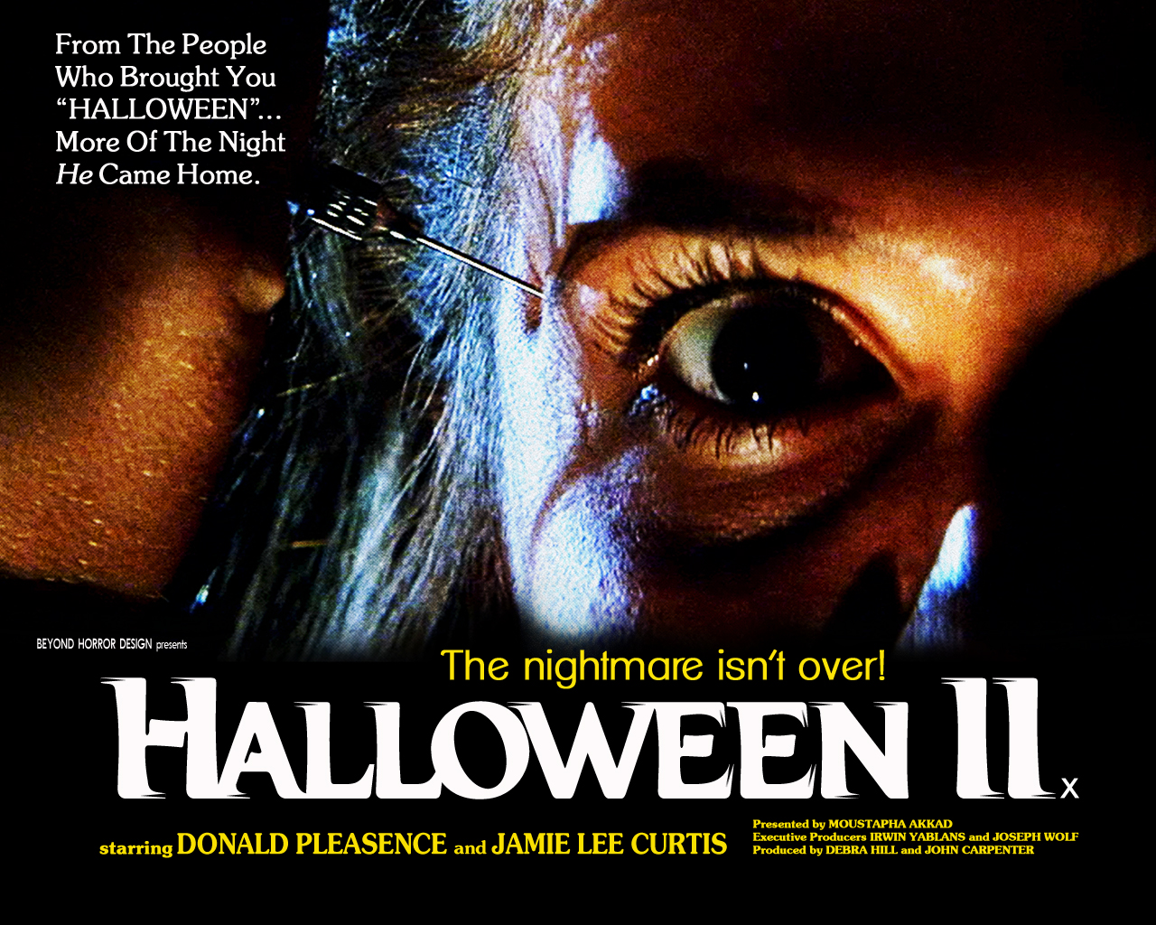 Halloween II 1981 Poster Wallpaper Beyond Horror Design -