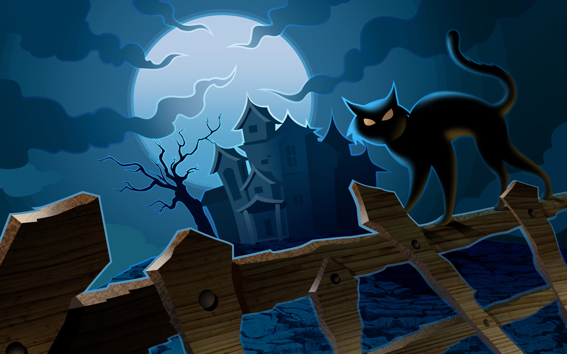 Collection of Halloween Cat Background on HDWallpapers