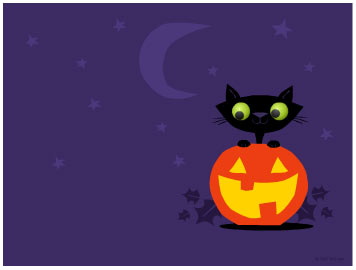 Halloween Cat Wallpaper