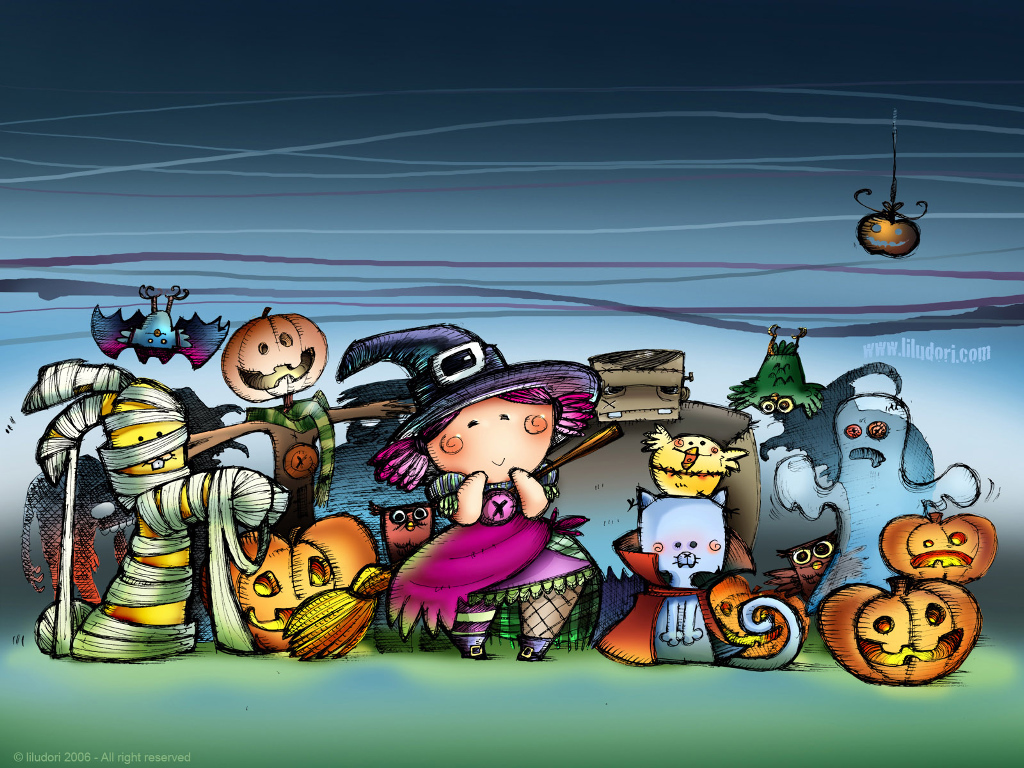 Cute Halloween wallpaper | 1024x768 | #59671