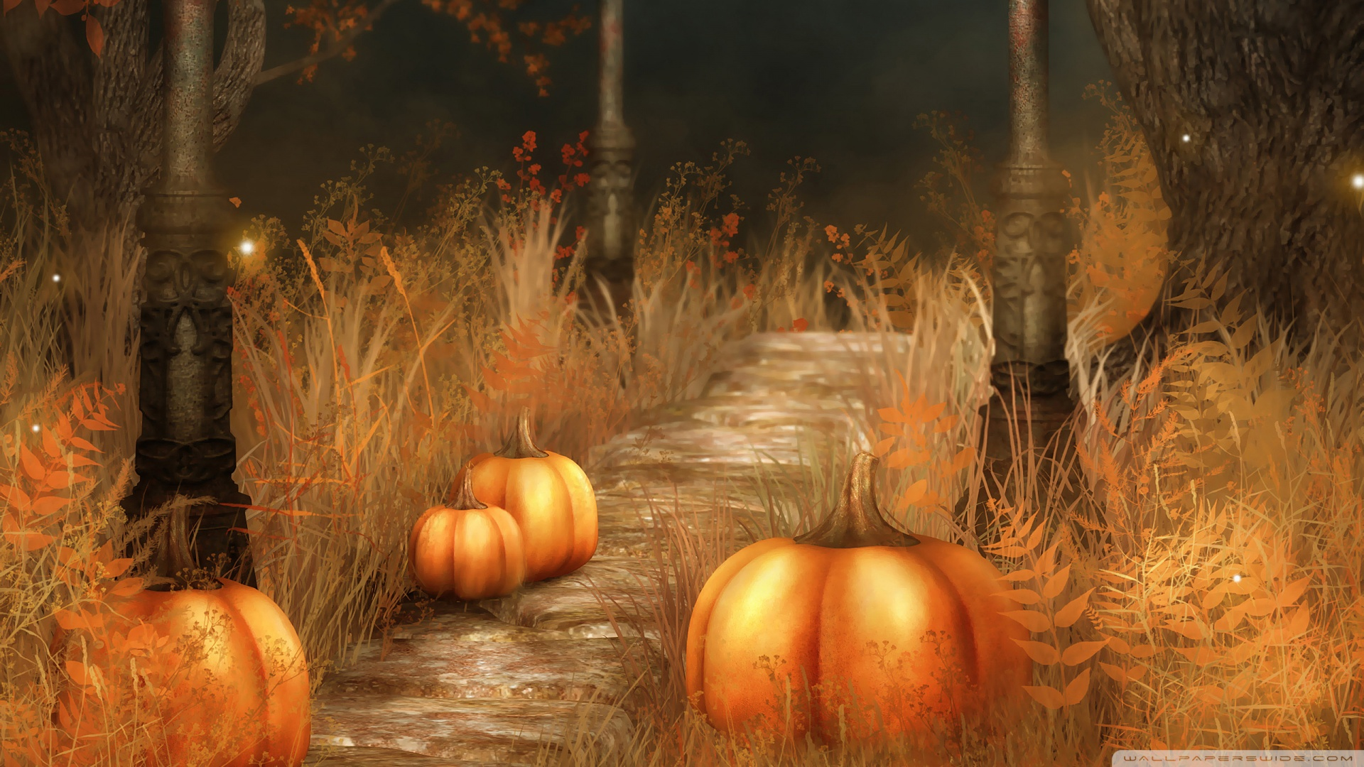 Cute Fall Pumpkins Wallpaper | Pumpkins Halloween Wallpaper Free