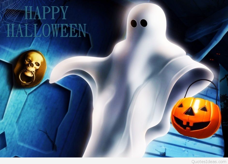 Funny Happy Halloween Ghost wallpaper wish