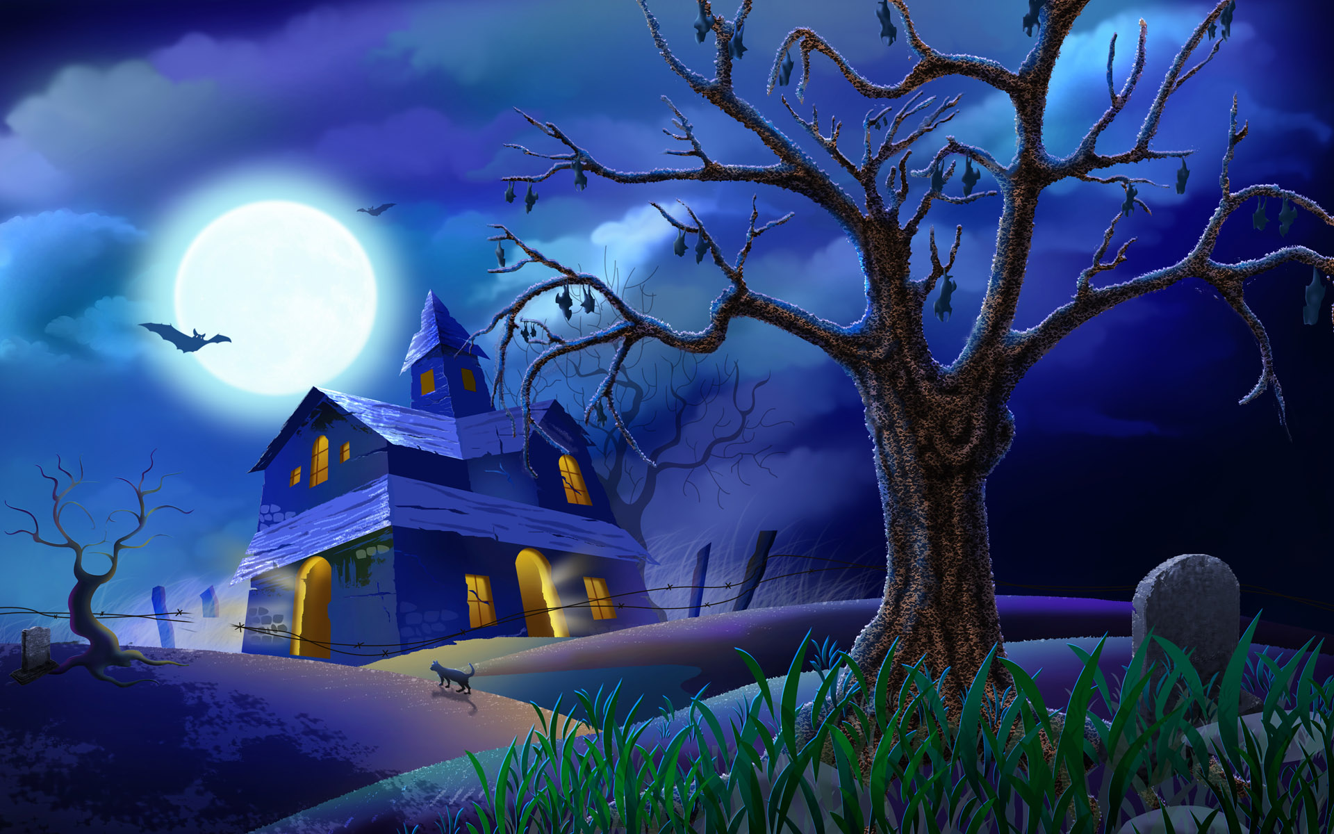 Free Download Scary Halloween Backgrounds | PixelsTalk Net