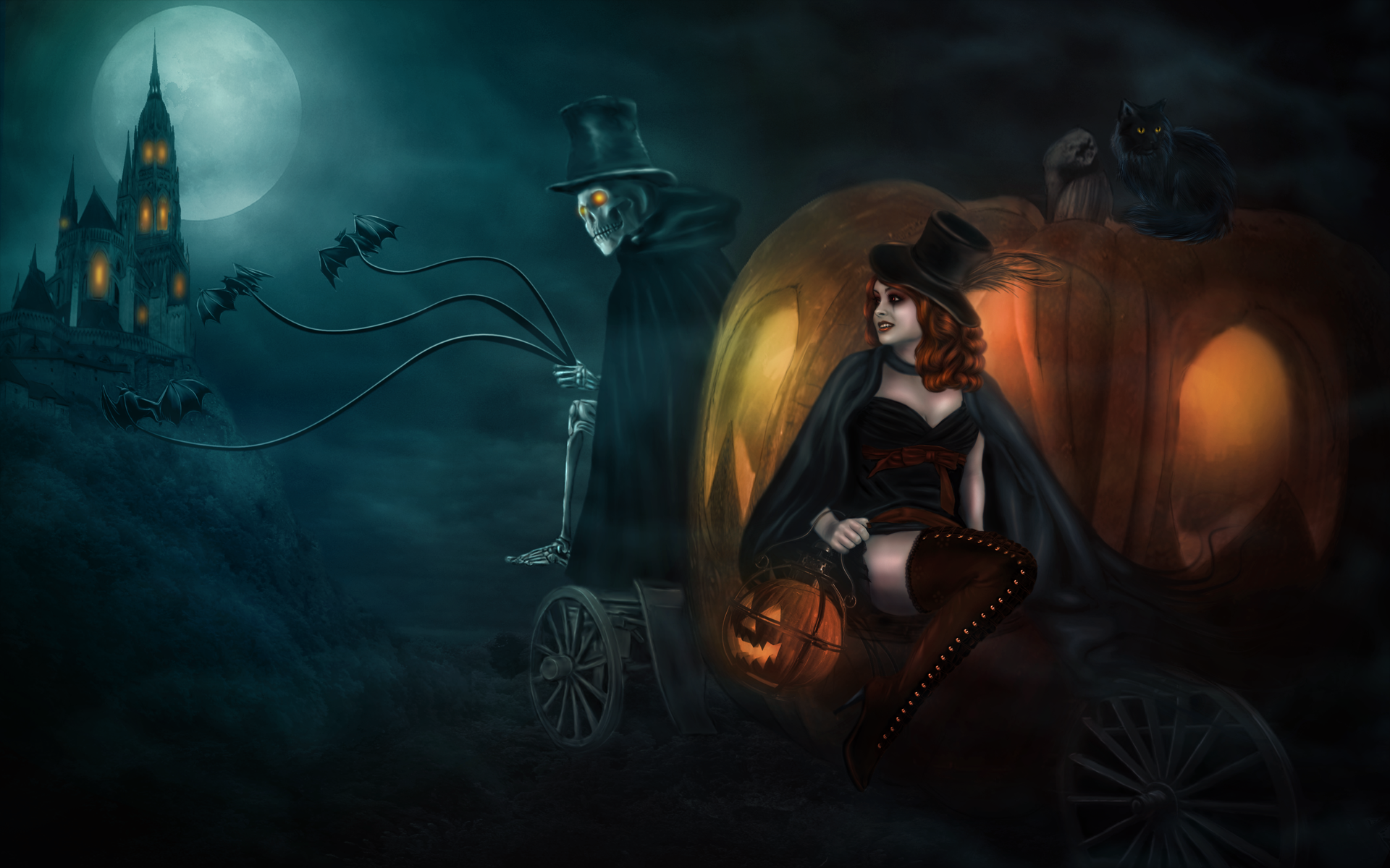 Halloween Witch Wallpaper Wide ~ Sdeerwallpaper
