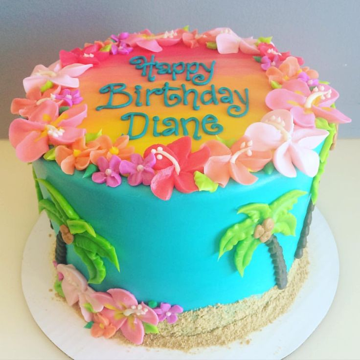 1000+ ideas about Happy Birthday Cakes on Pinterest | Floral cake
