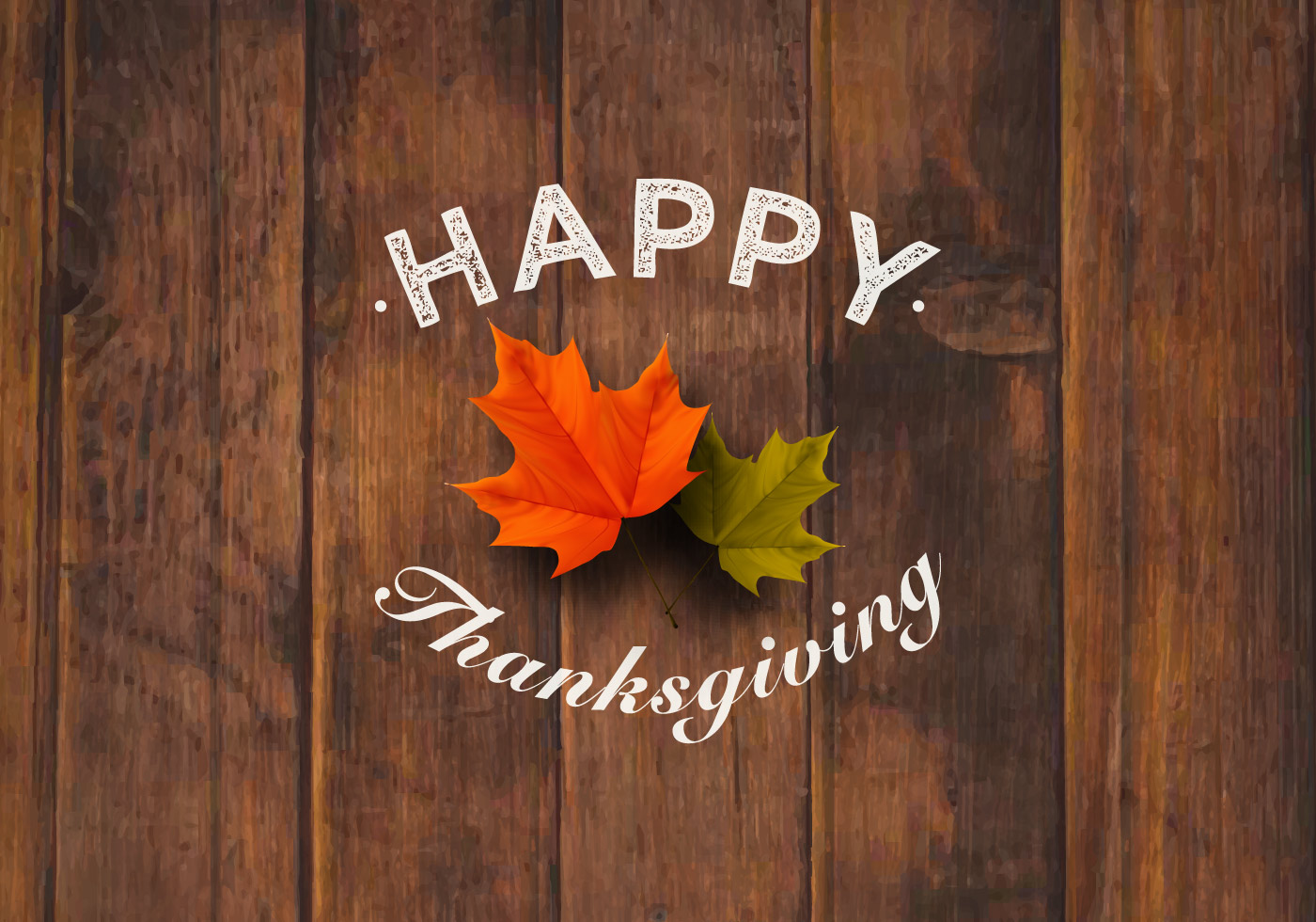 Happy Thanksgiving Background Vector Graphic — abstract