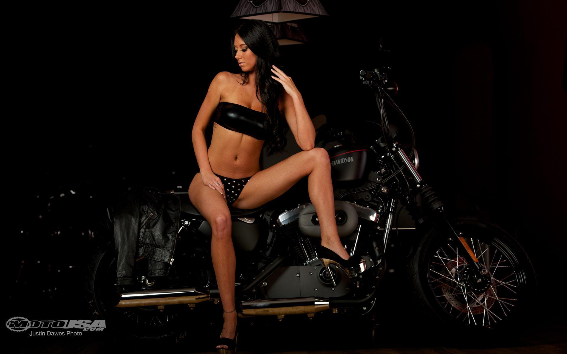 Harley-Davidson & Girl  http://hdwallpapersfit com/harley-davidson