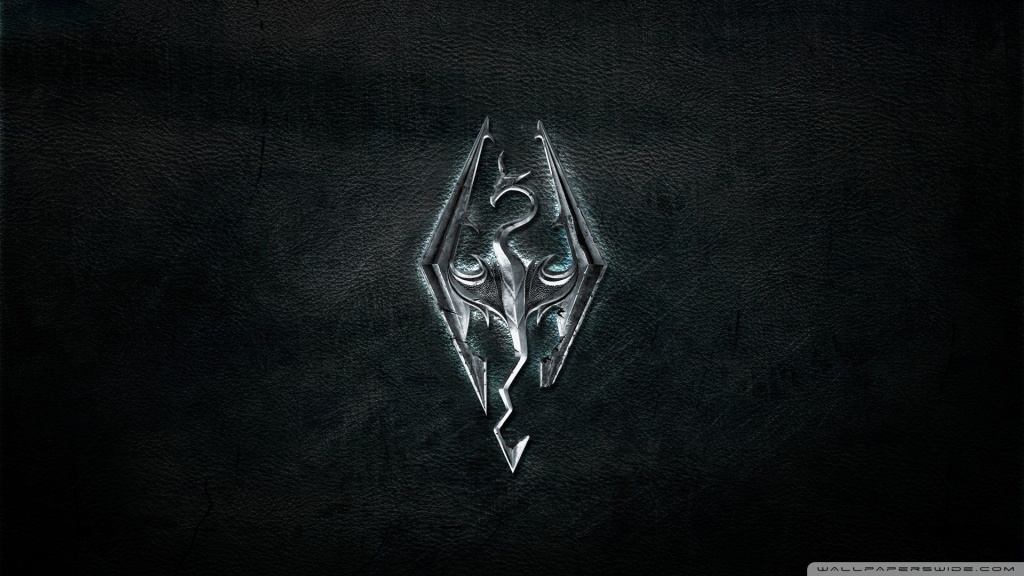 Skyrim Logo HD desktop wallpaper : High Definition : Fullscreen