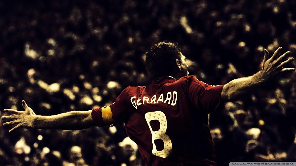Steven Gerrard Football HD Desktop Wallpaper Widescreen High Src