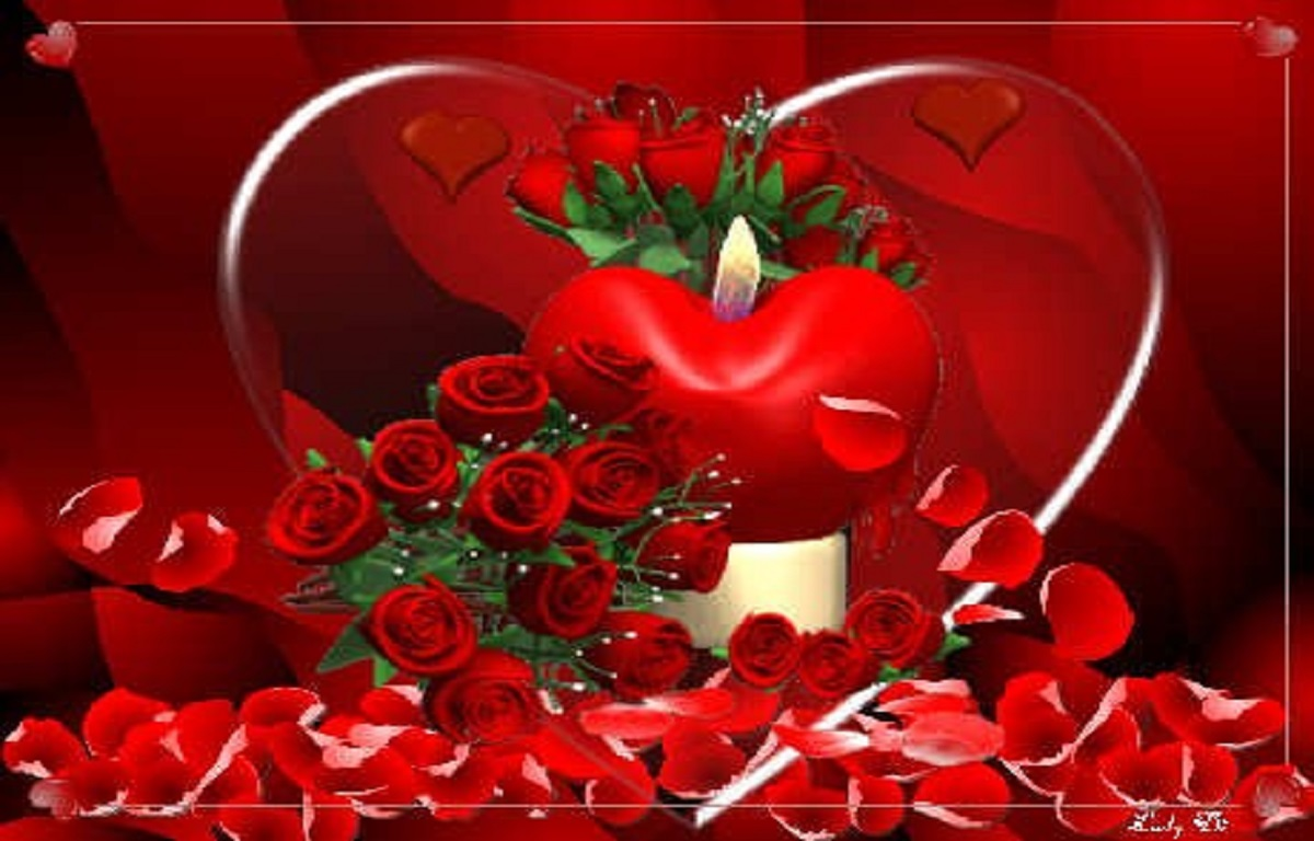 Love roses and hearts wallpapers (2) - HD Wallpapers Buzz