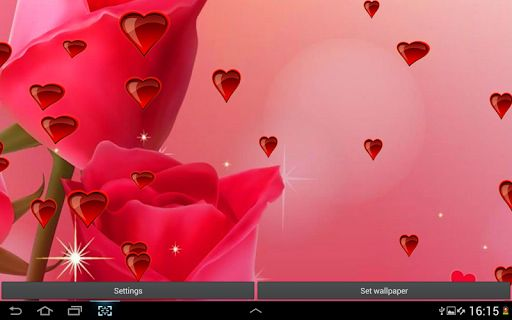 Hearts And Roses Wallpaper Sf Wallpaper