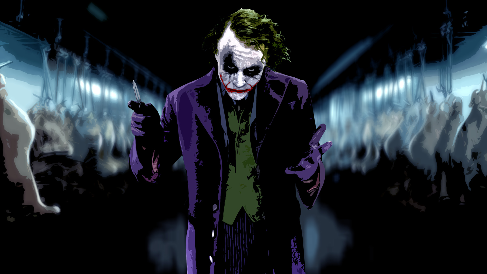 The Joker Heath Ledger Wallpaper - WallpaperSafari