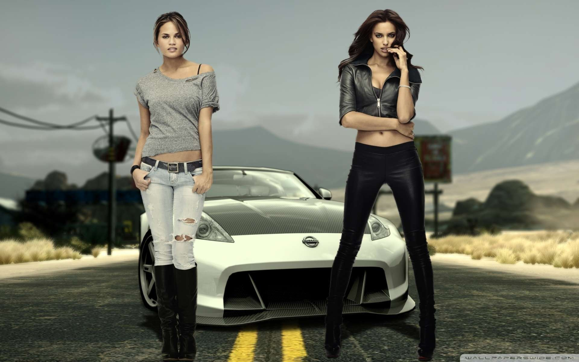 Nissan And Hot Girls Wallpaper : Hd Car Wallpapers