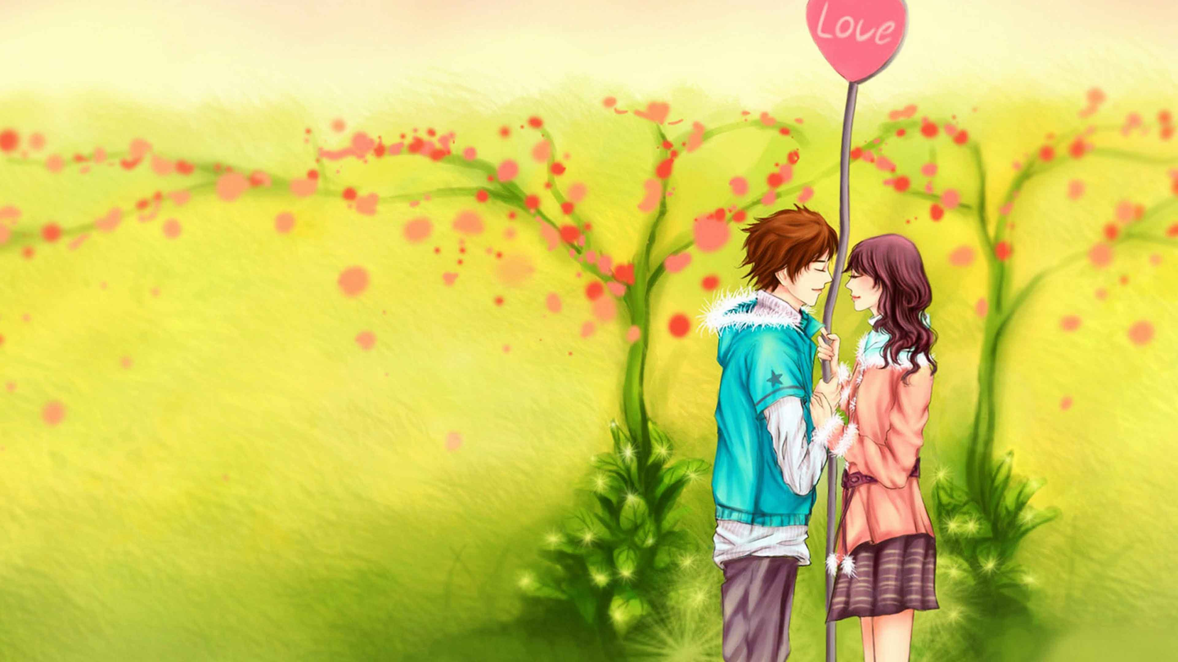 3d Love Couple Cartoon Wallpapers Download - 3d wallpaper HD