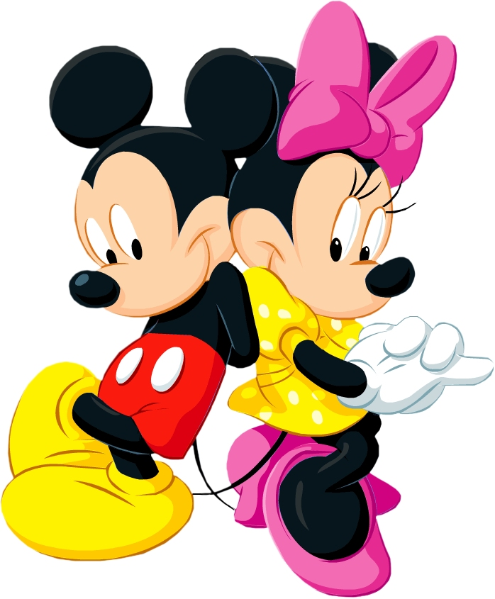 Clipart mickey and minnie mouse - ClipartFest