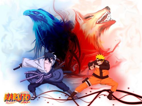 Widescreen Wallpapers of Naruto Y Sasuke, WP-MYG-72 HBC 333