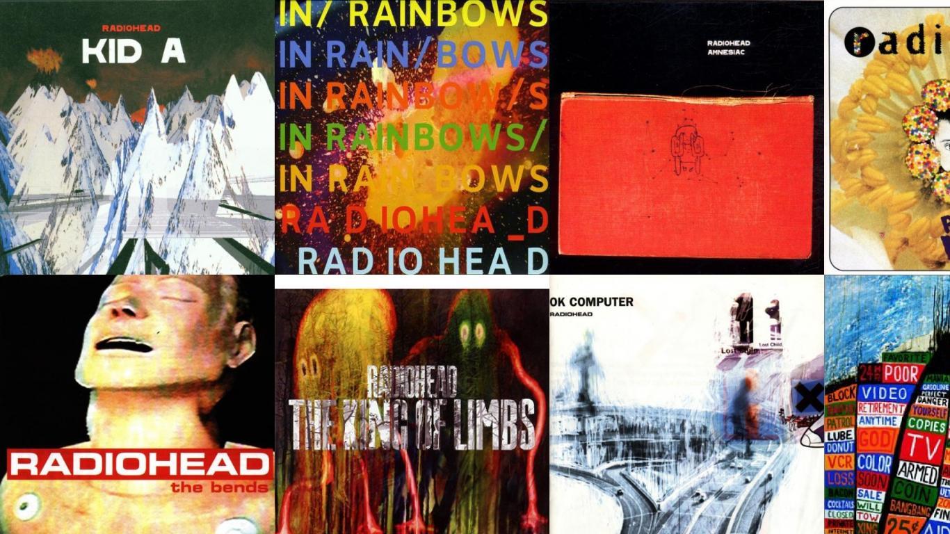 Radiohead Kid In Rainbows Amnesiac Pablo Honey Bends Wallpaper