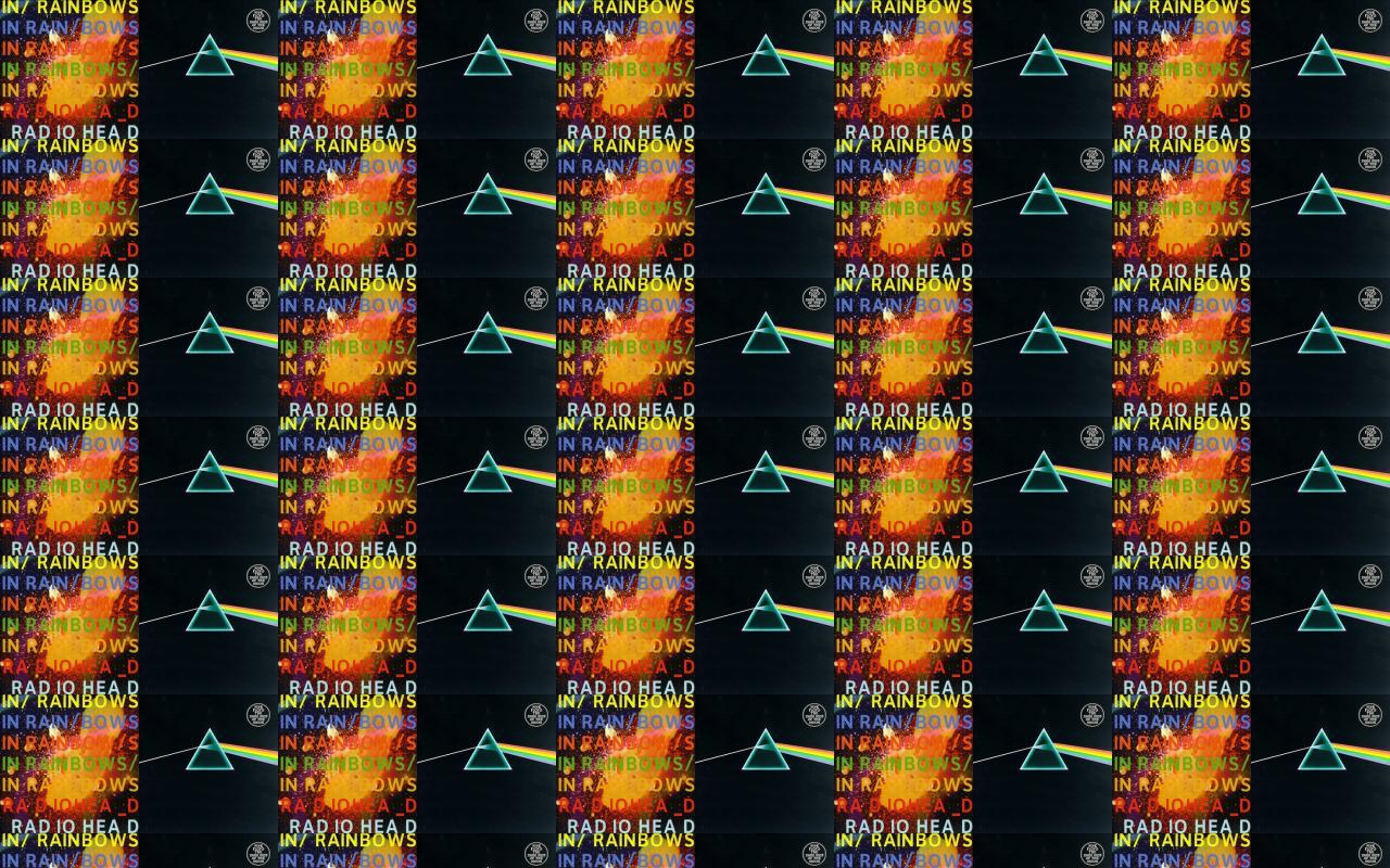 Radiohead In Rainbows Pink Floyd Dark Side Moon Wallpaper « Tiled