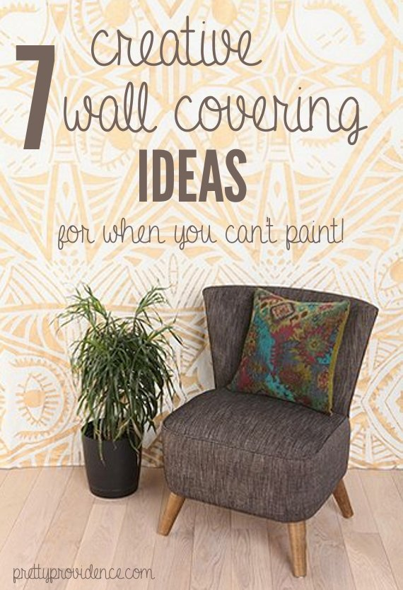 temporary wall coverings: 7 great ideas for when you can't paint