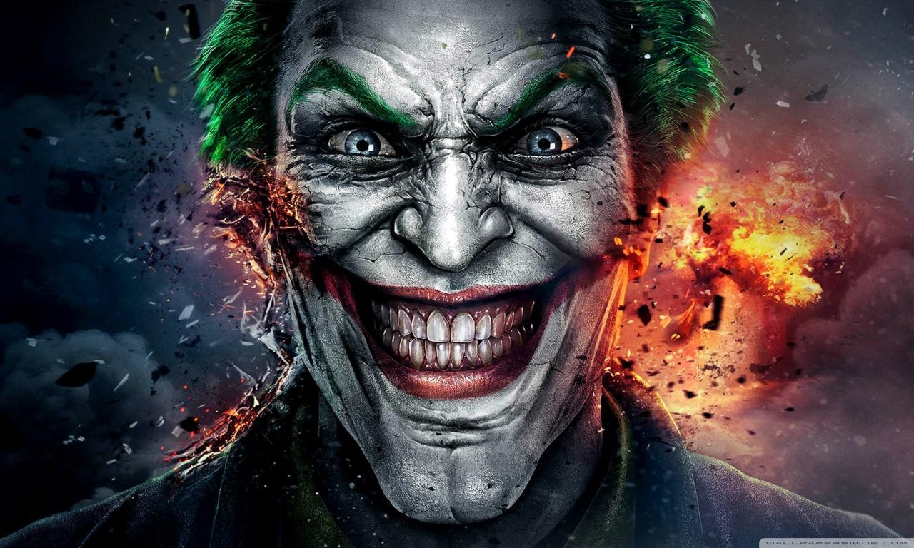 Injustice God Among Us Joker Face HD desktop wallpaper