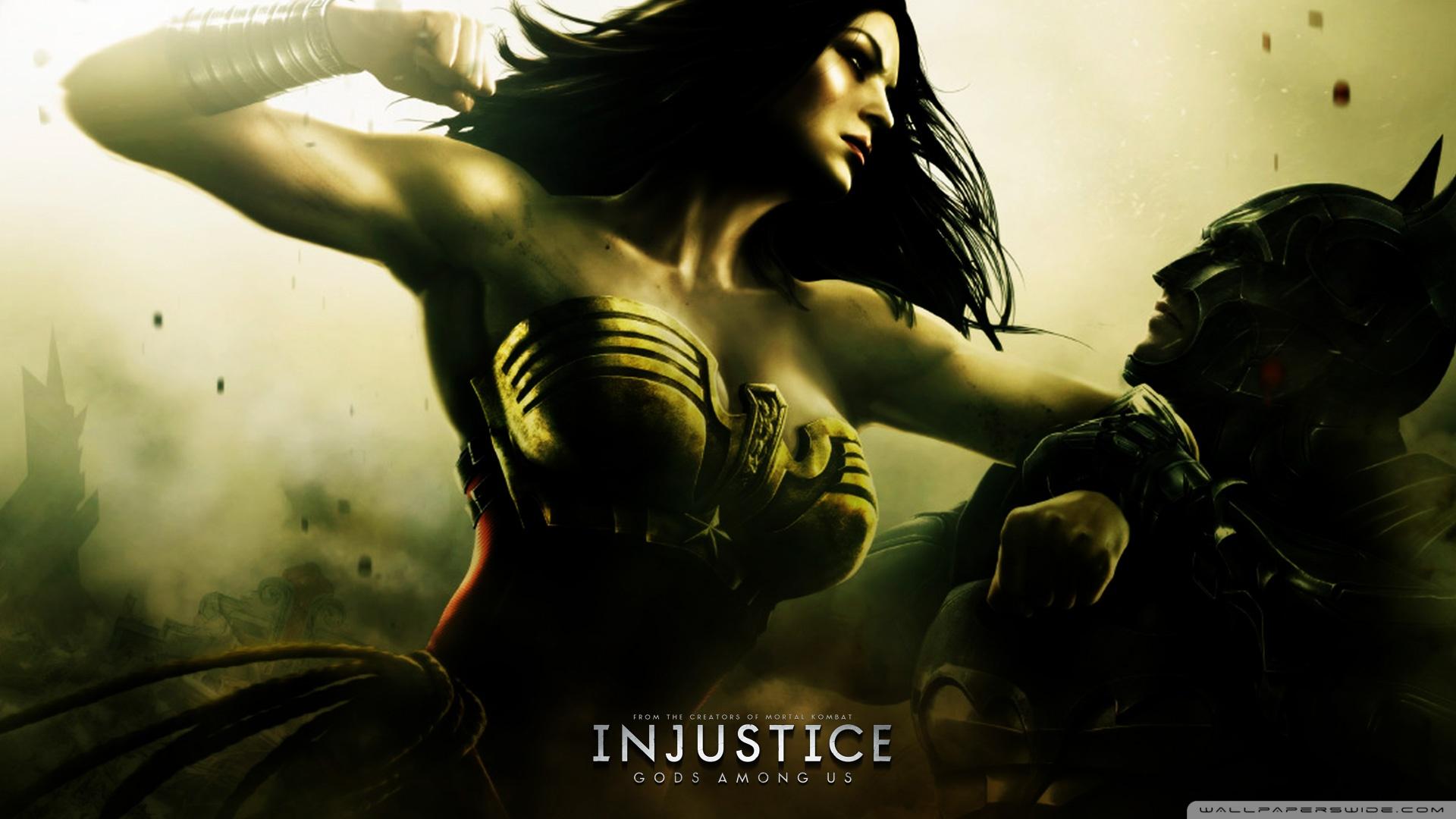 Injustice Gods Among Us - Batman vs Wonder Woman HD desktop