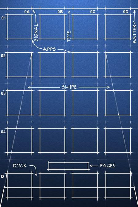 iPhone Savior: iPhone Blueprint Wallpaper for Your Home Screen