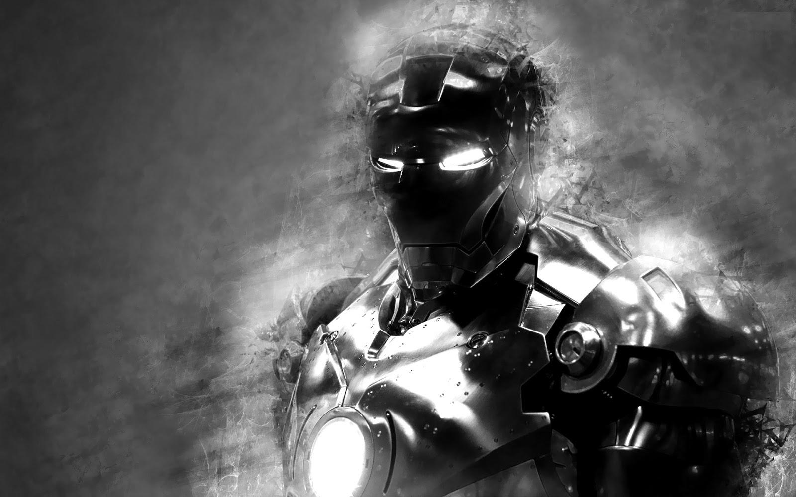 iron man black and white wallpaper - sf wallpaper