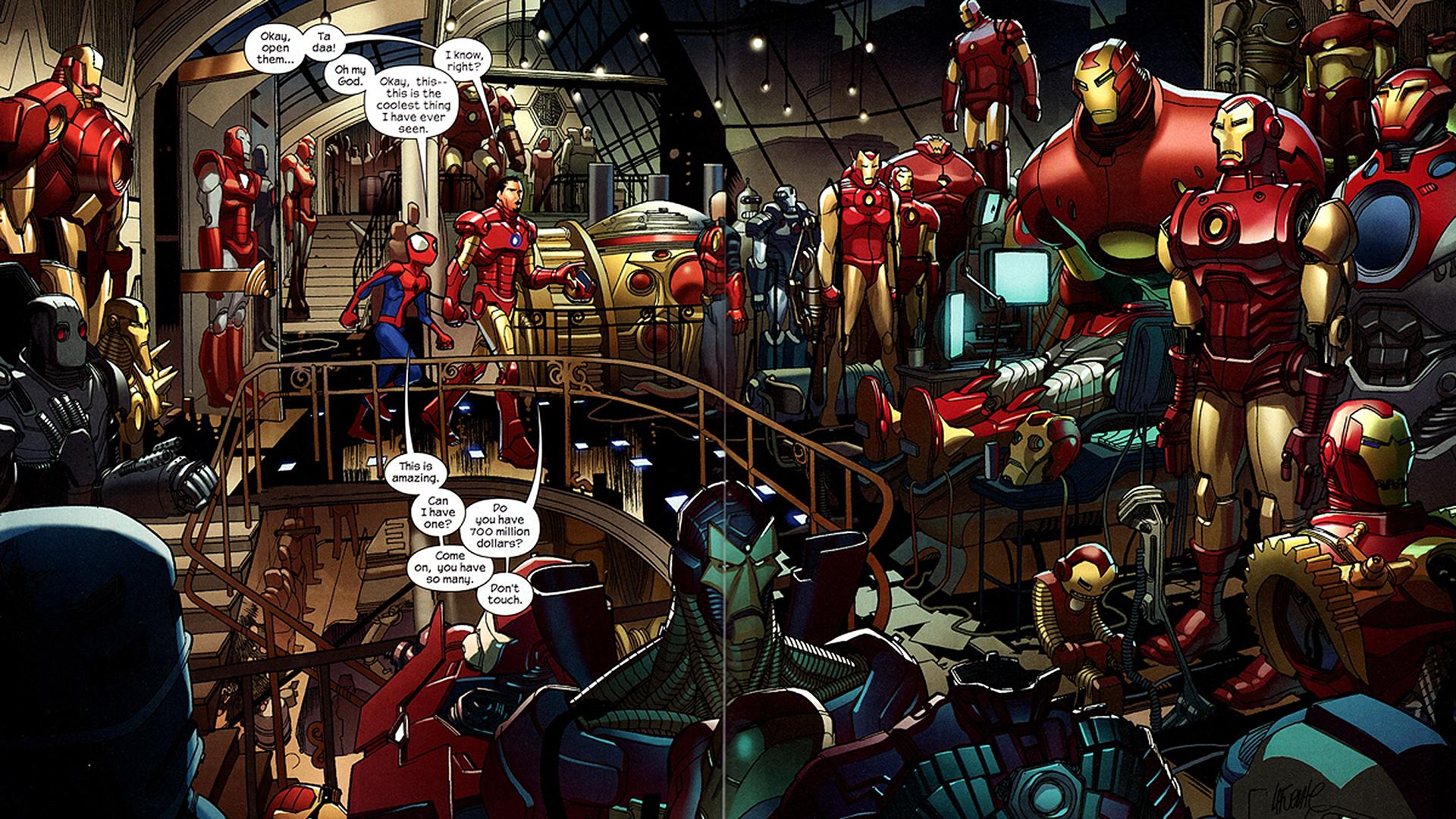 Iron Man comic cartoon wallpapers | PixelsTalk Net