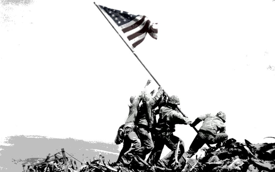 Raising the Flag on Iwo Jima by peirateis on DeviantArt