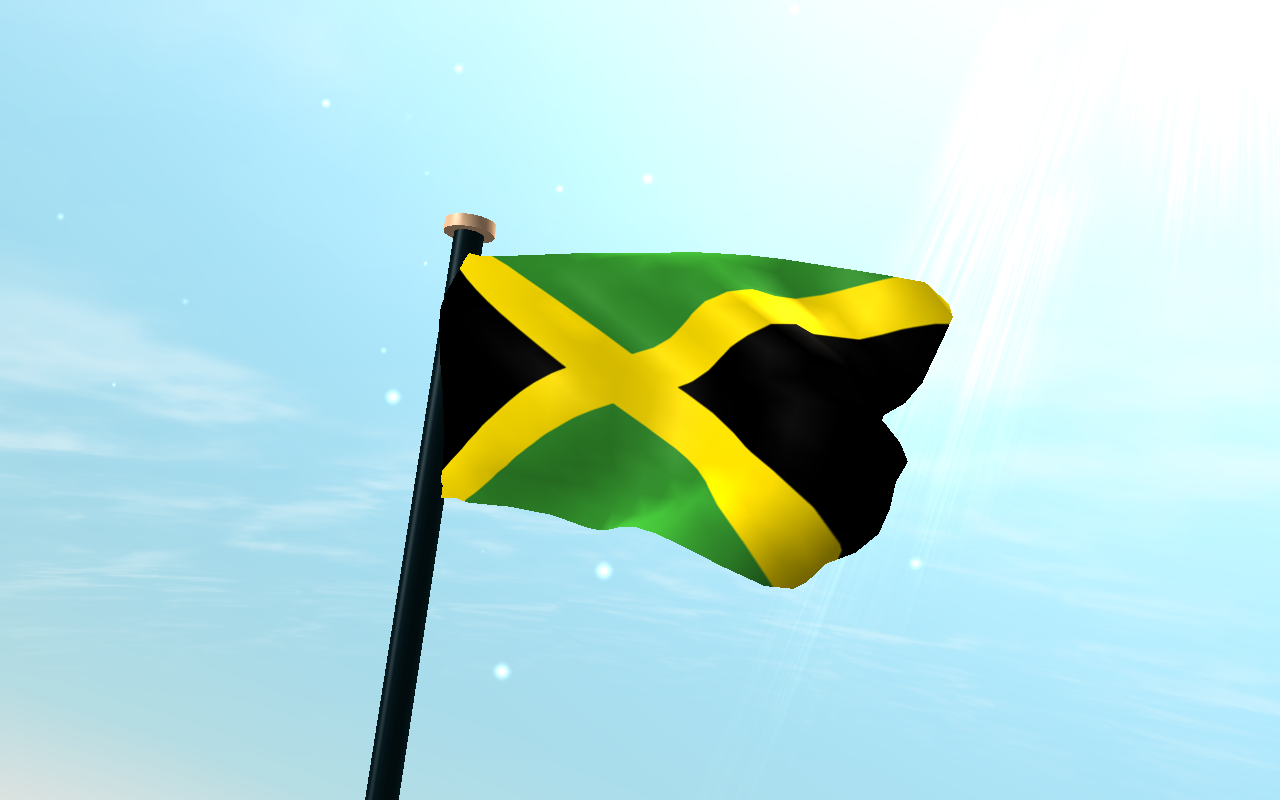 Jamaica Flag 3D Free Wallpaper