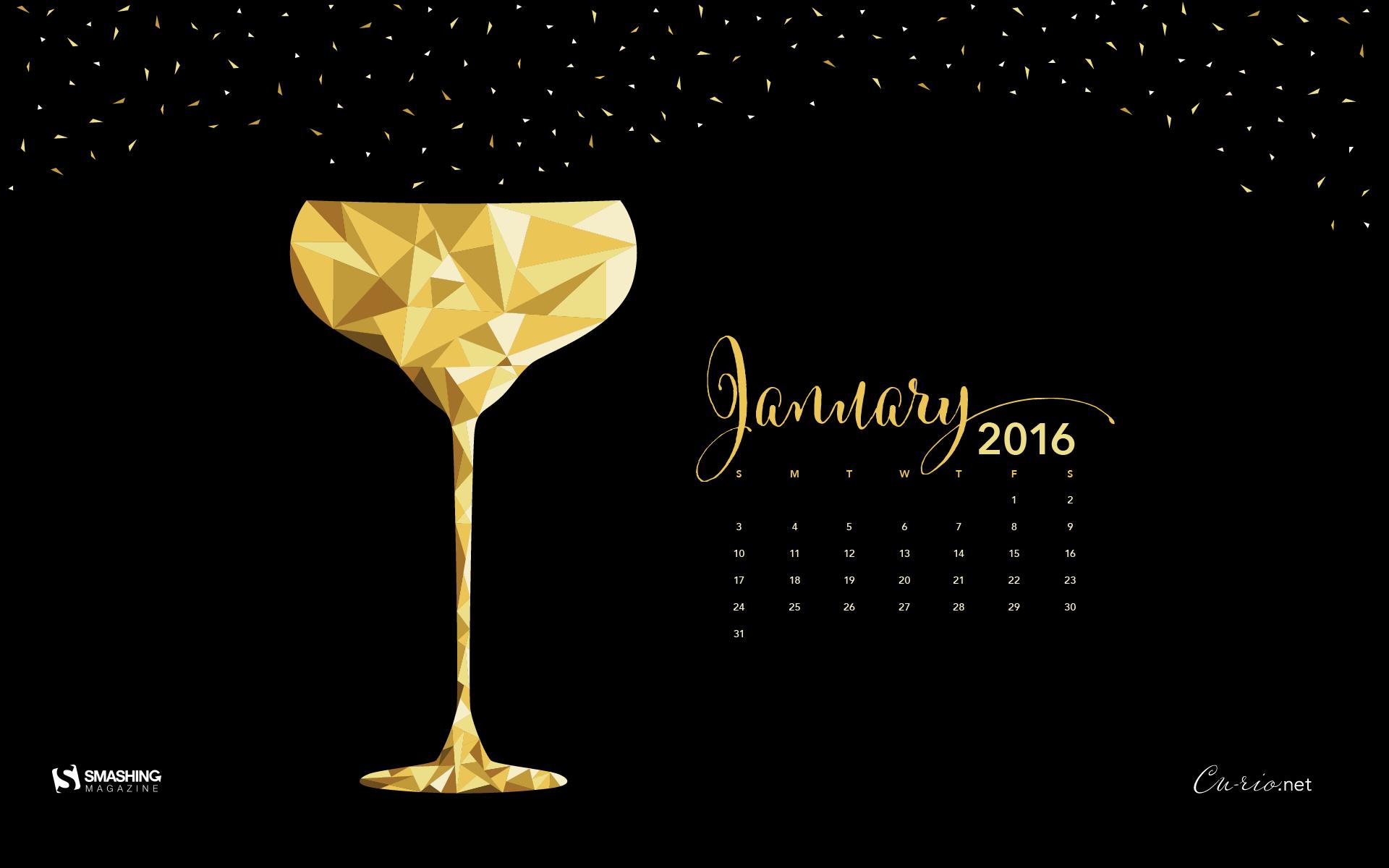 Desktop Wallpaper Calendars: January 2016 – Smashing Magazine