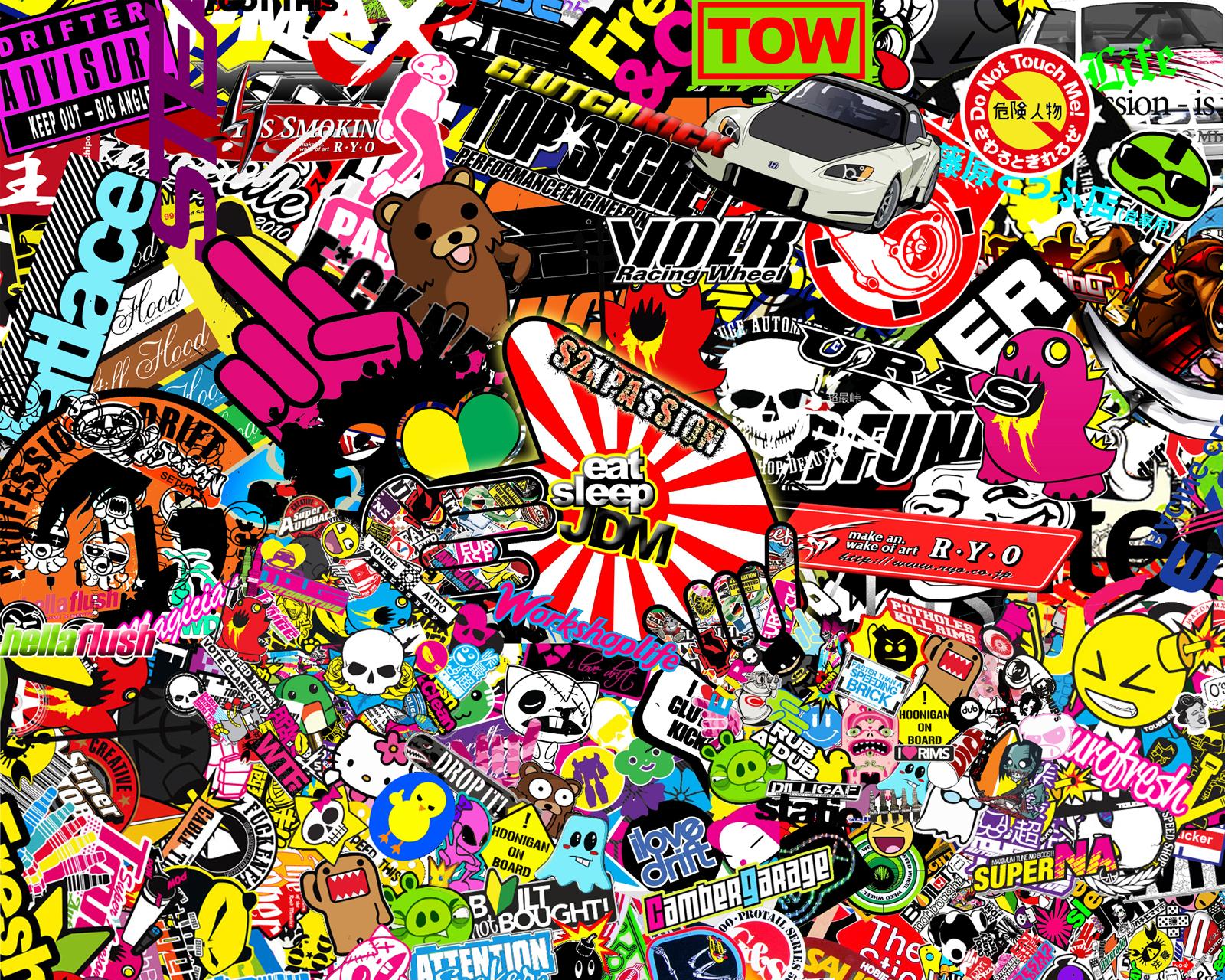 Sticker bomb wallpaper best cool wallpaper hd download