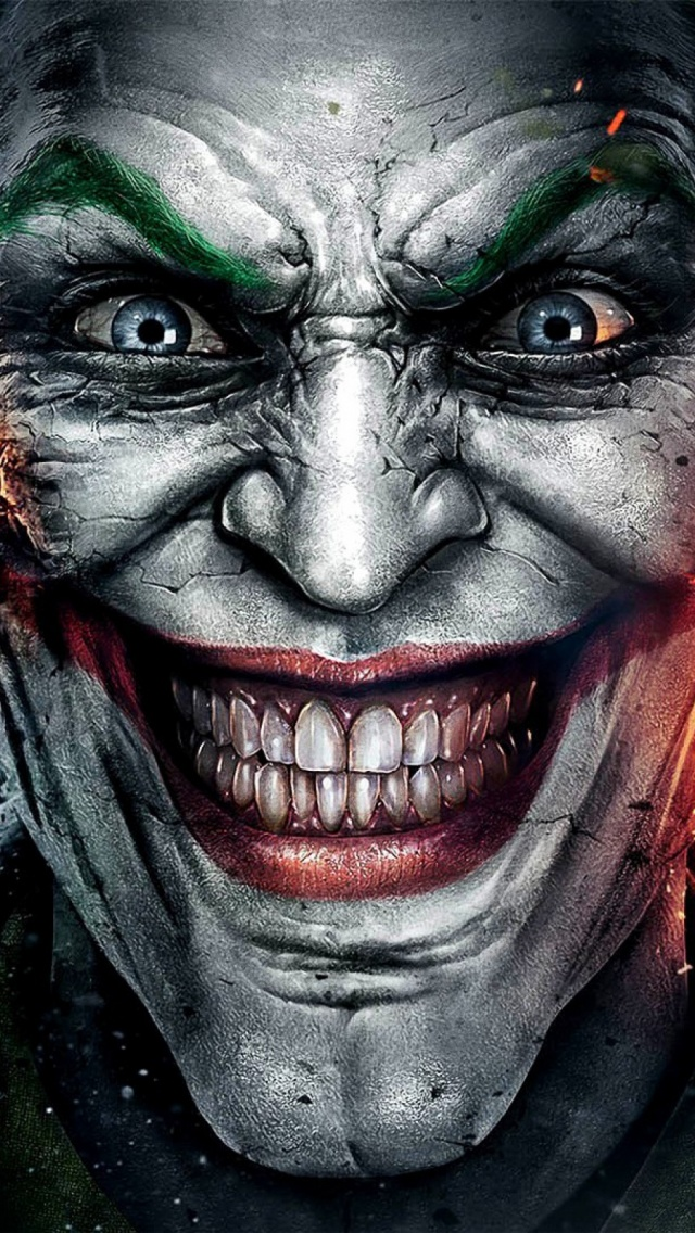 The Joker Face iPhone 5 Wallpaper (640x1136)