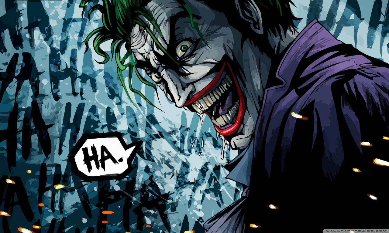 The Joker Illustration HD desktop wallpaper : Widescreen : High