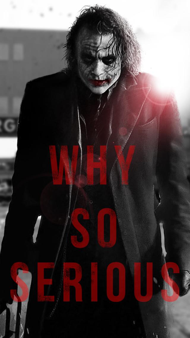 Joker Why So Serious Wallpaper - WallpaperSafari