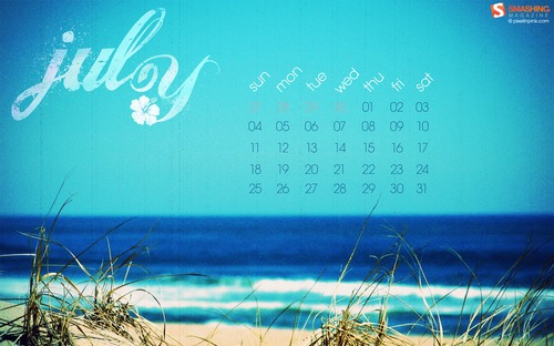Free July Wallpaper with Calendar - WallpaperSafari