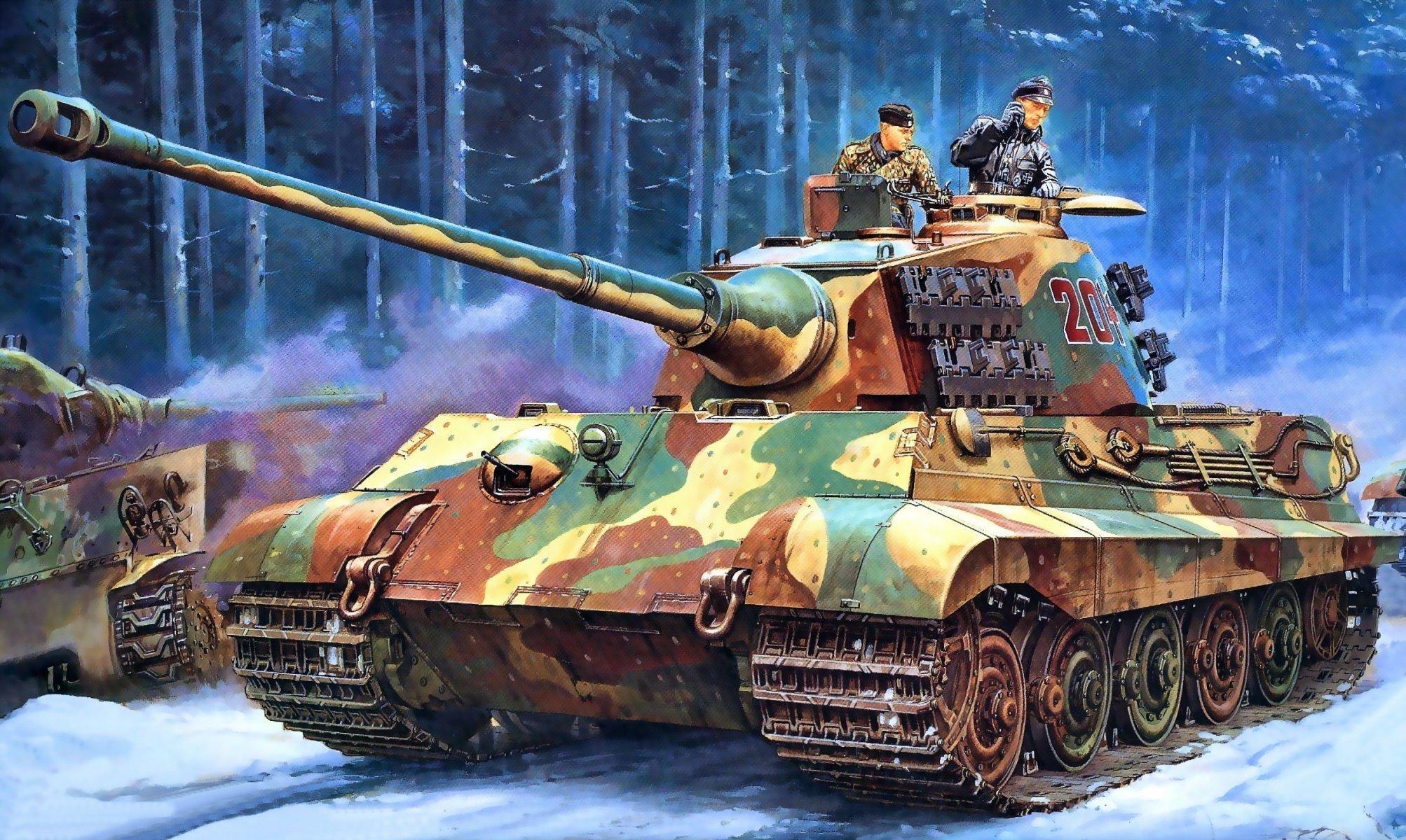 "art land road forest panzerkampfwagen vi ausf b «tiger ii» ""tiger"
