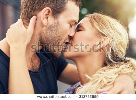 Couple Kissing Stock Images, Royalty-Free Images & Vectors