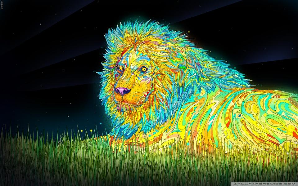Lion Art HD desktop wallpaper : High Definition : Fullscreen : Mobile