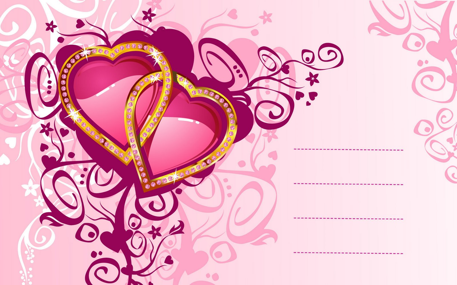 hearts animation free wallpaper | Love Wallpapers Romantic