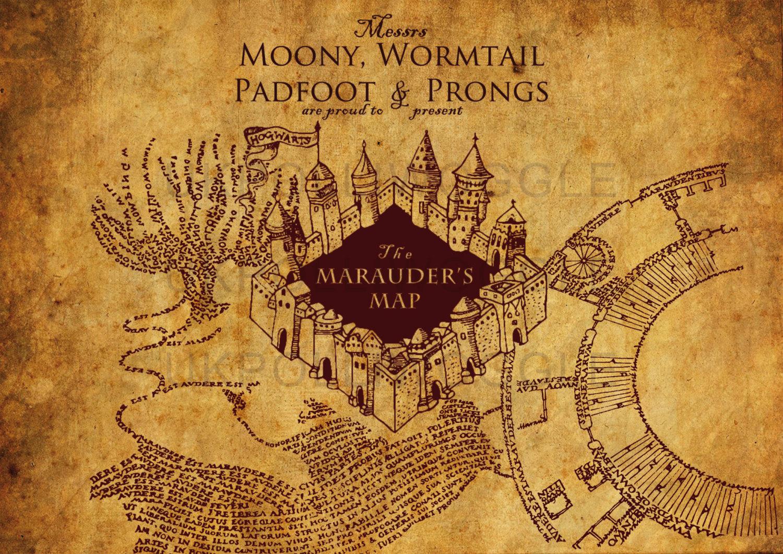 Beautiful Wallpaper Harry Potter Artistic - marauders-map-wallpaper-6  Perfect Image Reference_854848.jpg