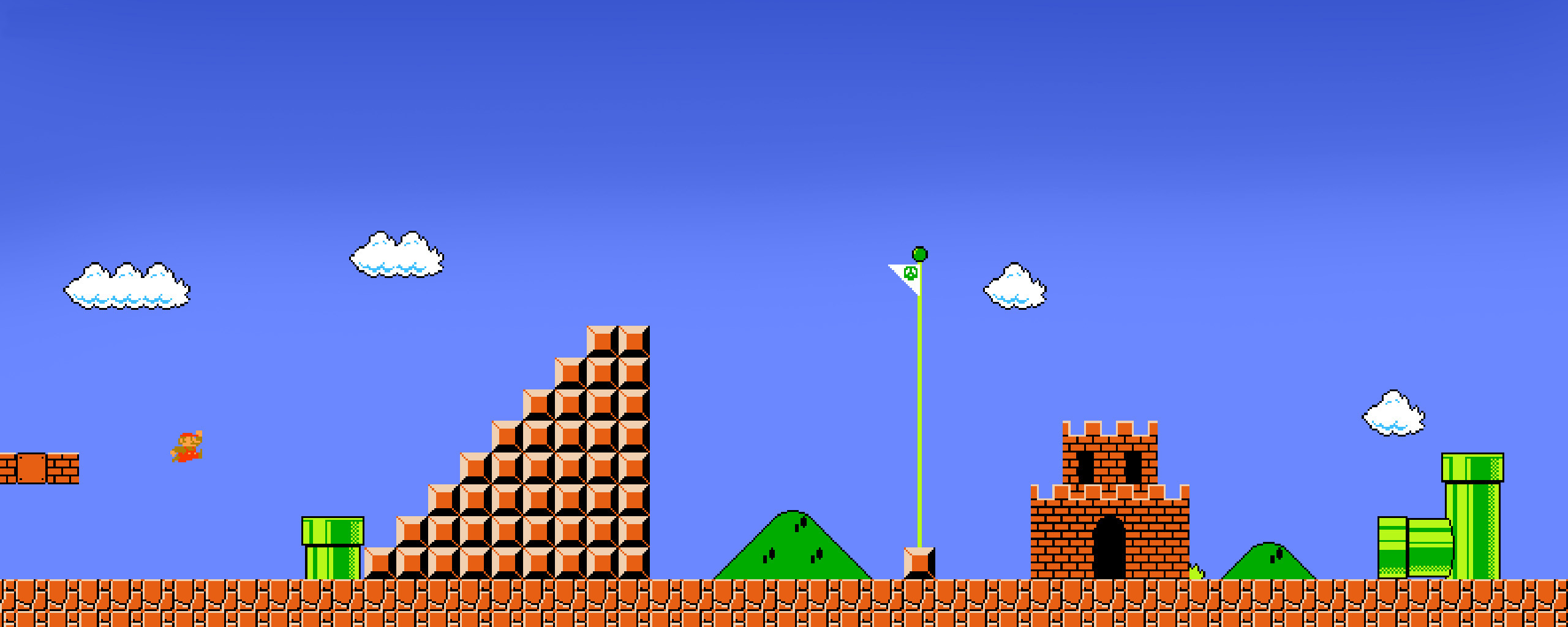 Mario bros background - SF Wallpaper