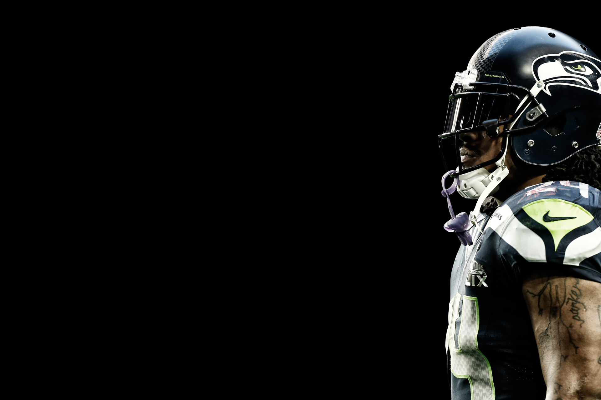 Marshawn Lynch Minimalist Desktop Wallpaper (1920x1280) : Seahawks