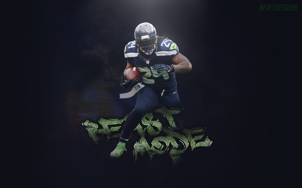 Marshawn Lynch Wallpaper by NewtDesigns on DeviantArt