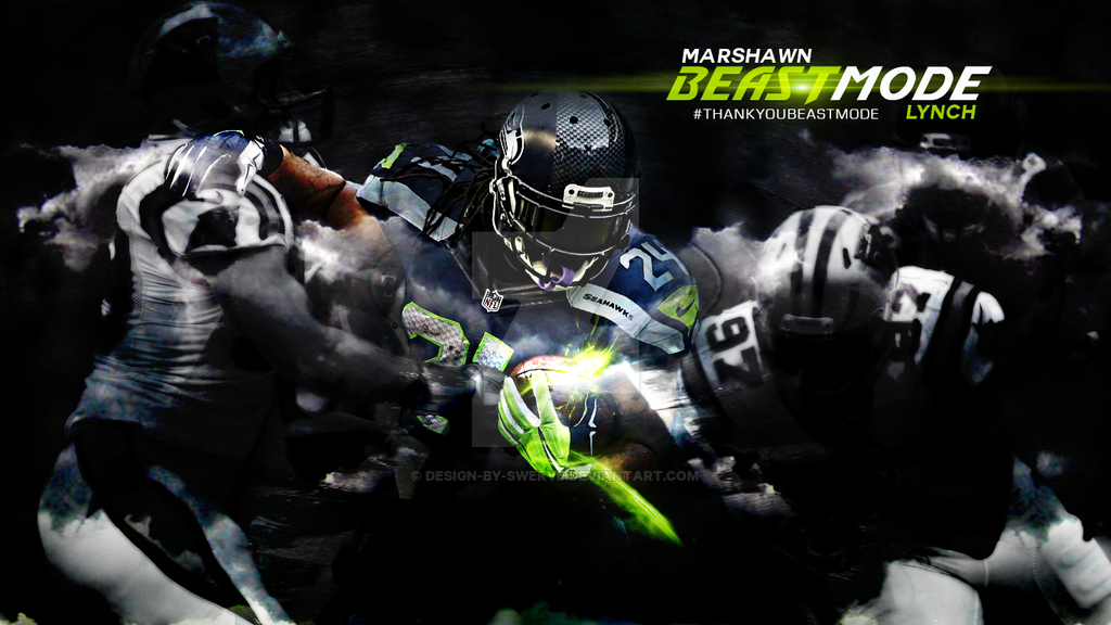 Marshawn Lynch akaBeastMode Tribute Wallpaper by design-by-swerve